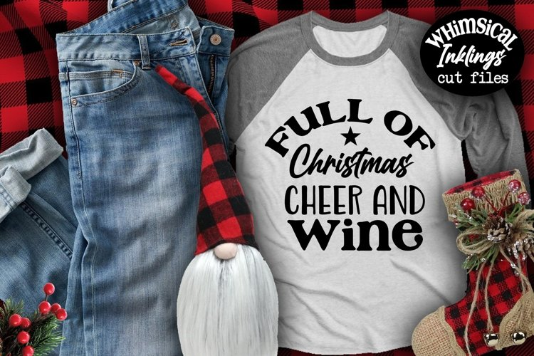 Christmas Cheer And Wine SVG example image 1