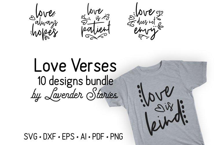 Love verses bundle - Christian SVG bundle - Valentines SVG