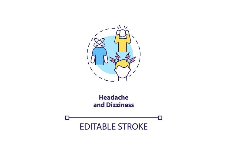 Headache and dizziness concept icon