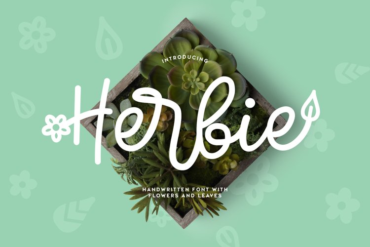 Web Font Herbie - A Flowery Font example image 1