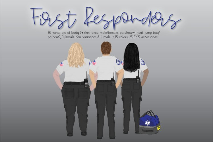 First Responder Clipart Set example image 1