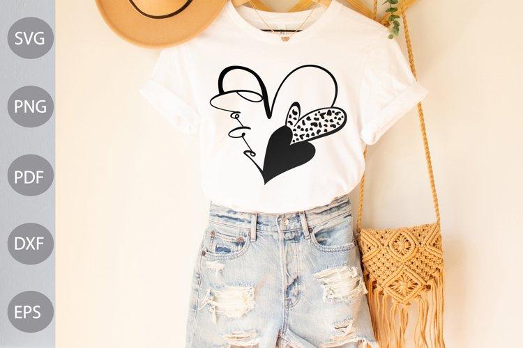 Love Heart SVG Design