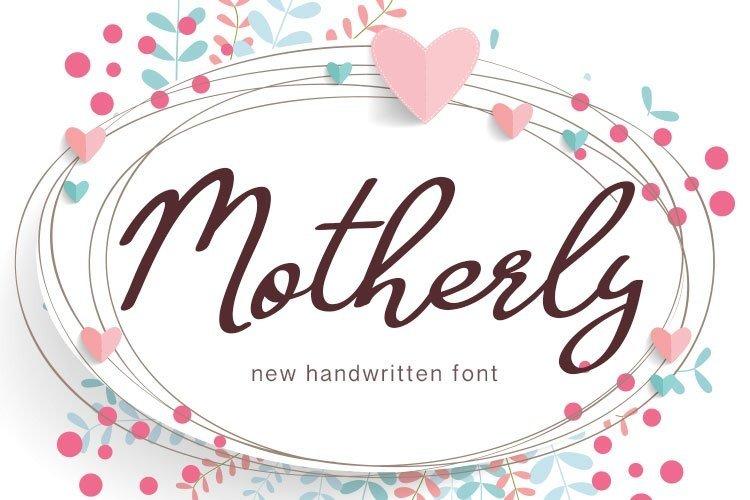 Web Font Motherly example image 1