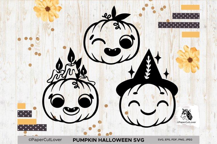 Jack o Lantern Pumpkin SVG Bundle Pumpkin face SVG Halloween example image 1