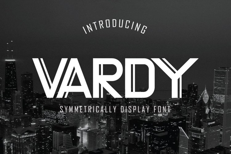 Web Font Vardy Display Typeface example image 1