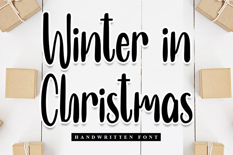 Winter In Christmas - Handwritten Font example image 1