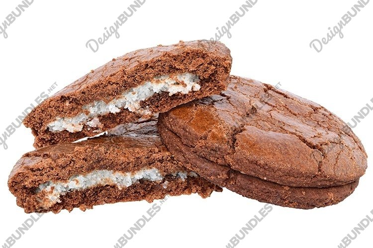 Stock Photo - Appetizing chocolate chip cookies isolated example image 1