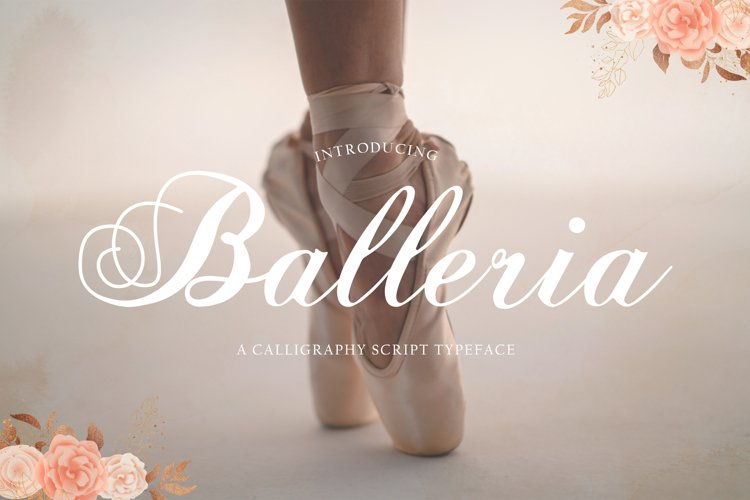 Balleria - Lovely Modern Script example image 1