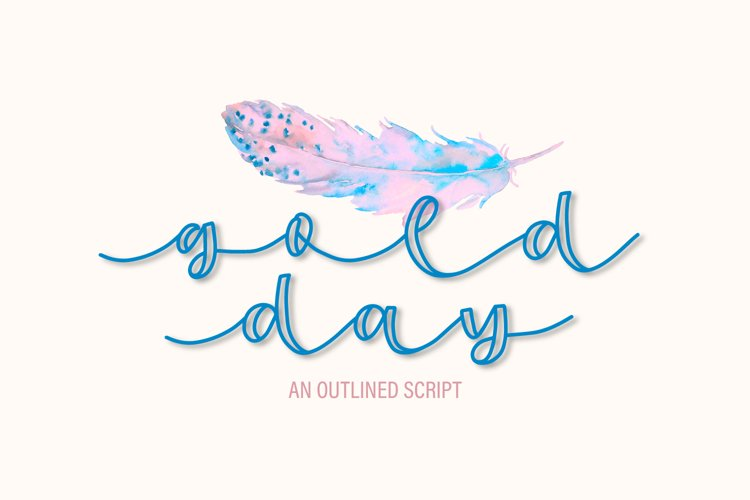 Gold Day - An Outlined Script example image 1