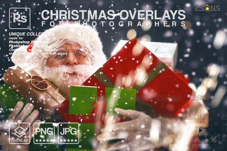 Christmas overlay & Glitter overlays, Photoshop overlay example image 1