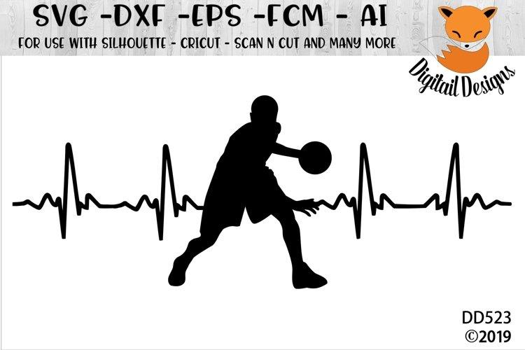 Basketball EKG SVG