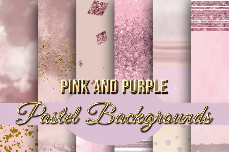 Pastel Pink and Purple Assorted Backgrounds