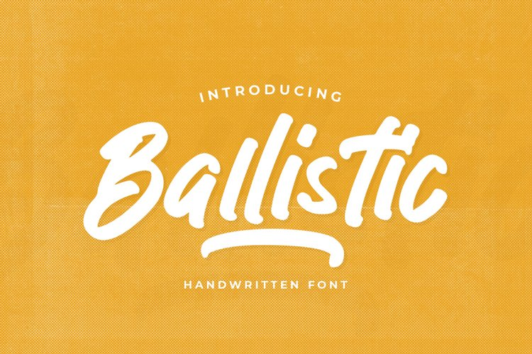 Ballistic - Handwritten Brush example image 1
