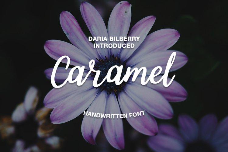 Caramel handwritten font