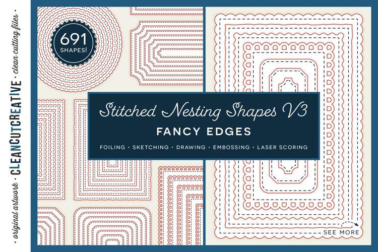 Stitched Nesting Shapes V3 Fancy Edges | sketch foil SVG