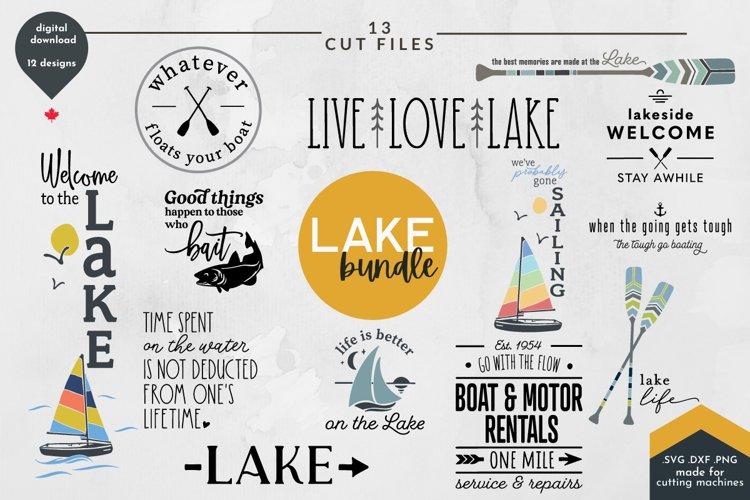 Lake Life SVG Bundle - Summer Cut Files, Fishing, Boating