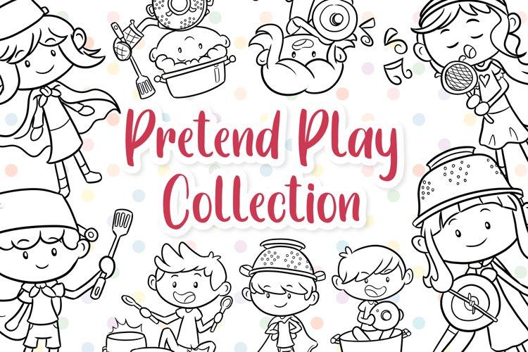Pretend Play Kids Digital Stamps