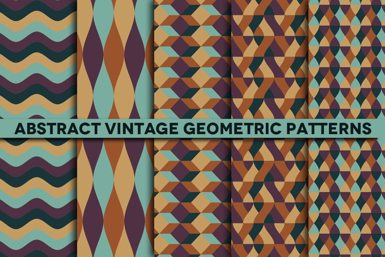Abstract Vintage Geometric Patterns for Photoshop