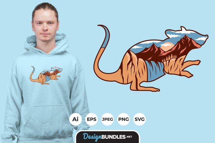 Mouse Landscape for T-Shirt Design example image 1