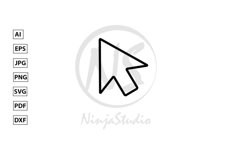 Mouse Cursor Line Icon In Flat Style Vector example image 1