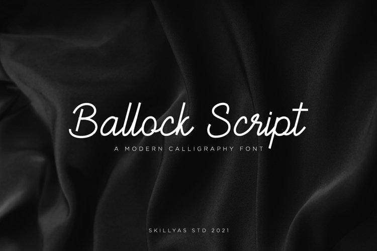 Ballock Script - a modern calligraphy font example image 1