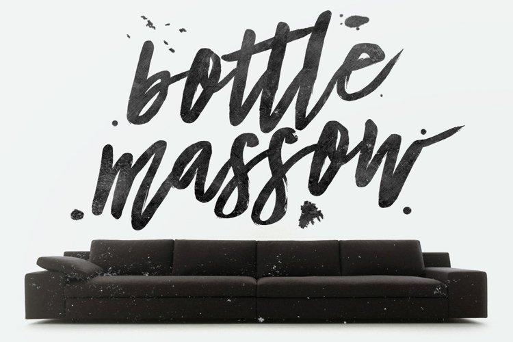 Bottle Massow Brush Script example image 1