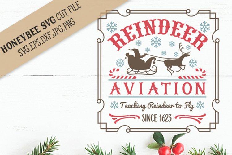 Reindeer Aviation svg Christmas svg example image 1