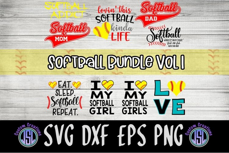 Softball Bundle Vol 1   Set of 9   SVG DXF EPS PNG