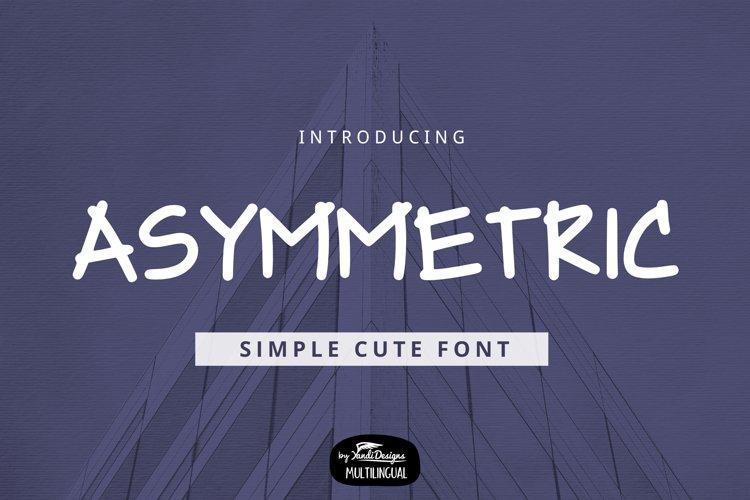Asymmetric Font