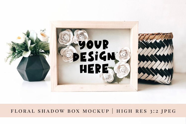 Paper Flower Shadow Box Mock up 3