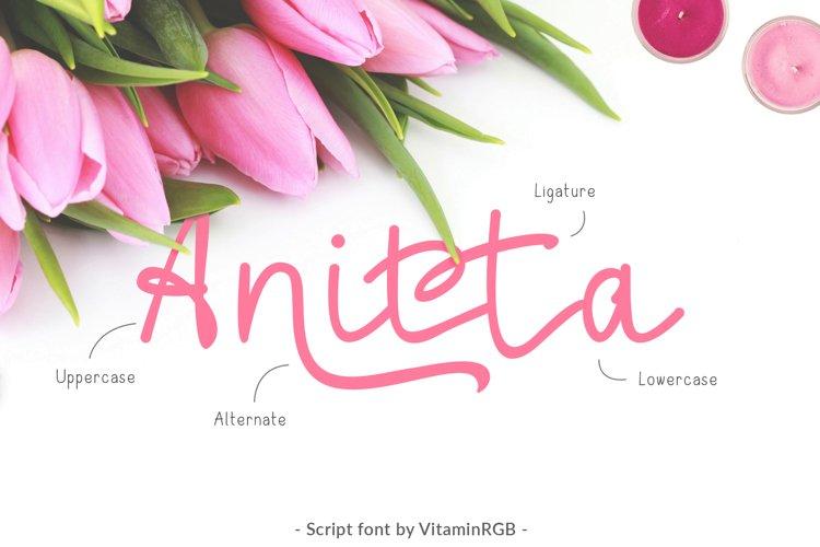 Anitta Script Font example image 1