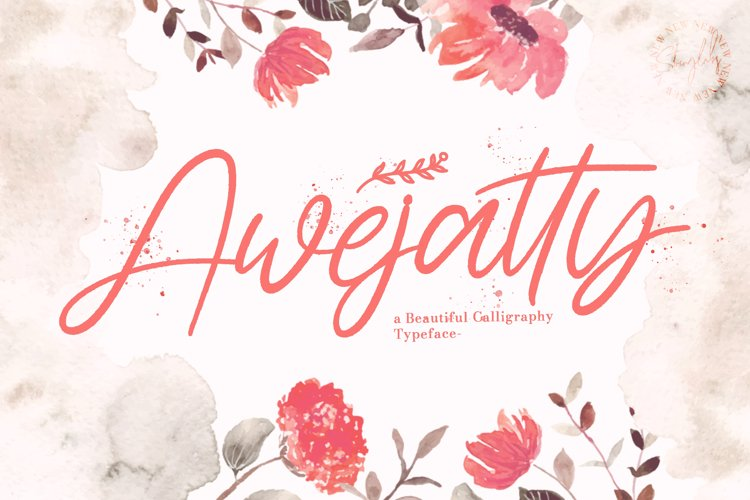 Awejatty - Handwritten Font example image 1