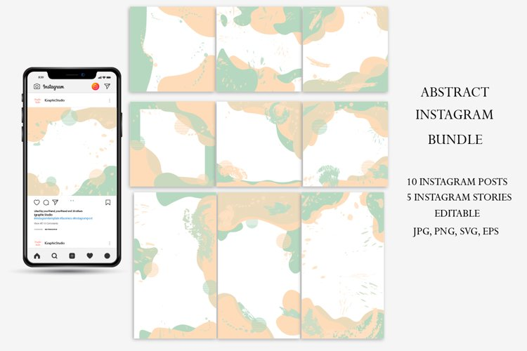 Instagram Stories Template, Abstract Instagram Post