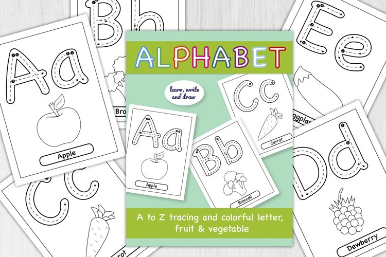 Alphabet A to Z Educational Worksheets&Coloring pages