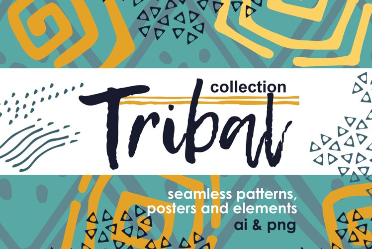 Collection of ethnic patterns and posters