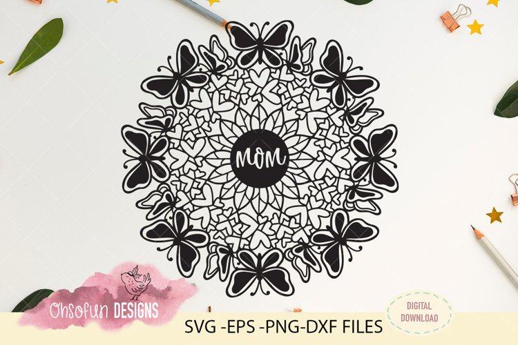 Mom mandala, SVG, mothers day mandala