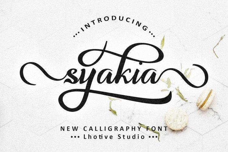 Syakia   New Calligraphy Font
