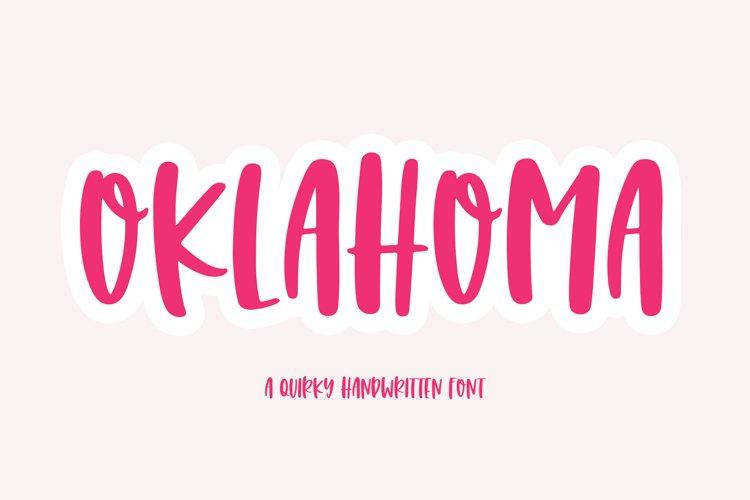 Oklahoma - A Fun Handwritten Font example image 1