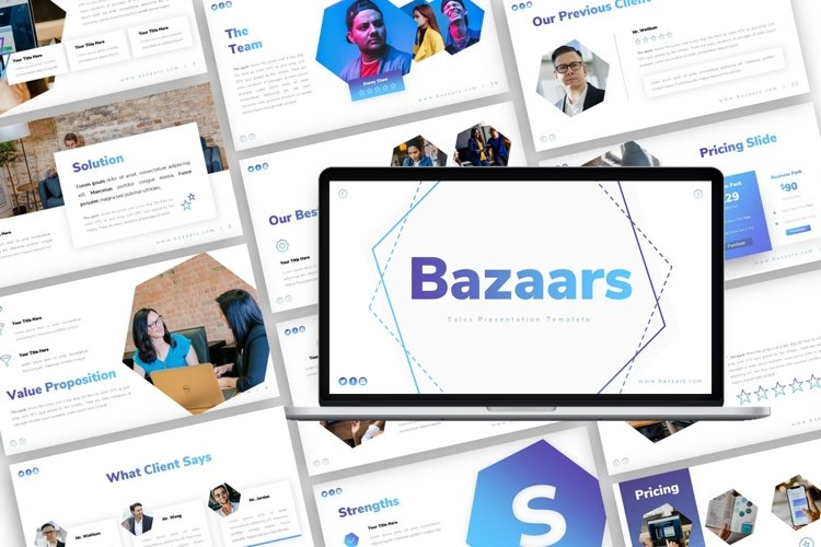 Presentation Template for Sales - Bazaars