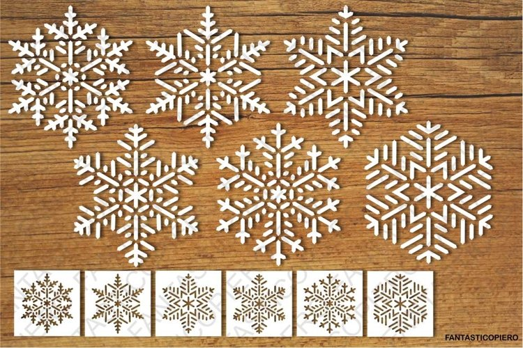 Snowflakes and Stencils SVG files for Silhouette and Cricut. example image 1