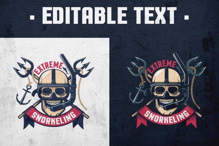 Extreme Diving Retro Emblem example image 1