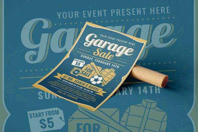 Retro Garage Sale - Flyer Poster example image 1