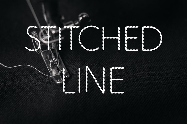 Stitched Line Font example image 1
