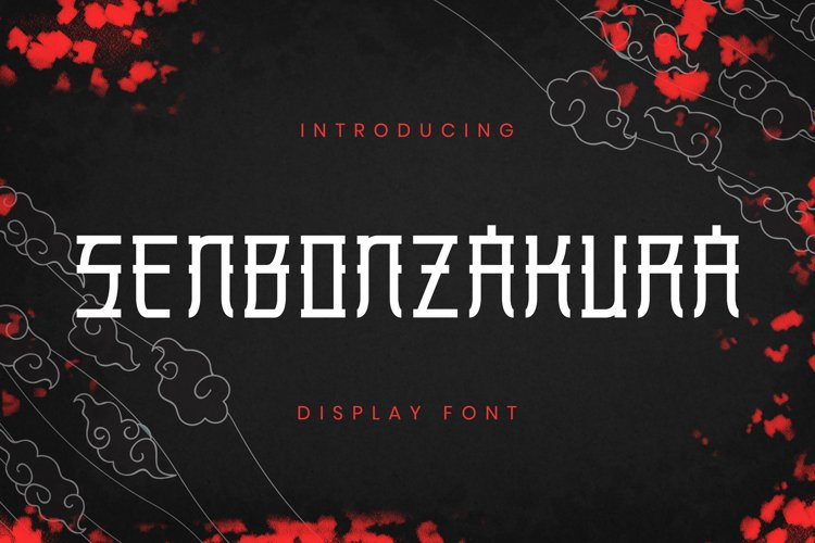 SENBONZAKURA Font example image 1