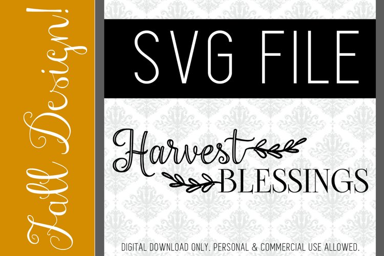 Harvest Blessings, SVG FILE example image 1