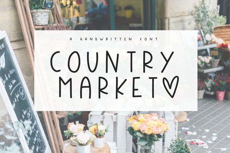 Country Market - A Handwritten Display Font - Free Font of The Week Font