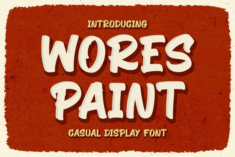 Retro Display Font - Wores Paint example image 1