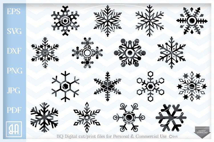 Snowflakes Svg - Snowflake SVG - Christmas bundle SVG
