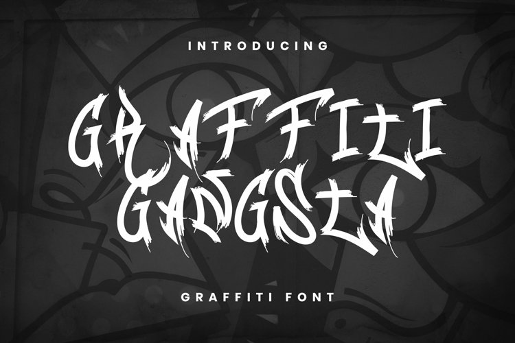 Web Font Graffiti Gangsta Font example image 1