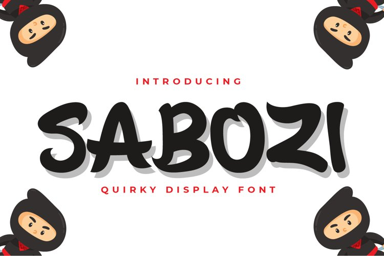 Sabozi - Quirky Display Font example image 1
